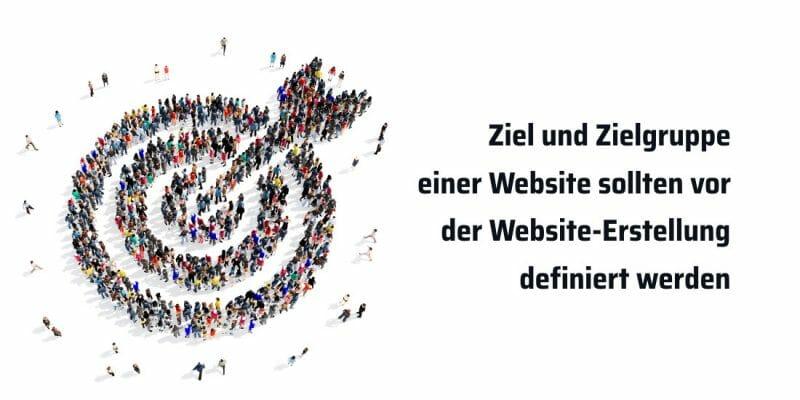 Website-Erstellung Ziel und Zielgruppe sollten klar definiert werden